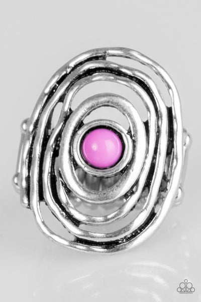 Colorfully Chaotic - Purple Ring - Paparazzi Accessories