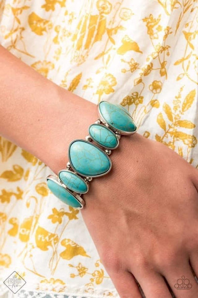 Feel At HOMESTEAD - Blue Bracelet - Paparazzi Accessories