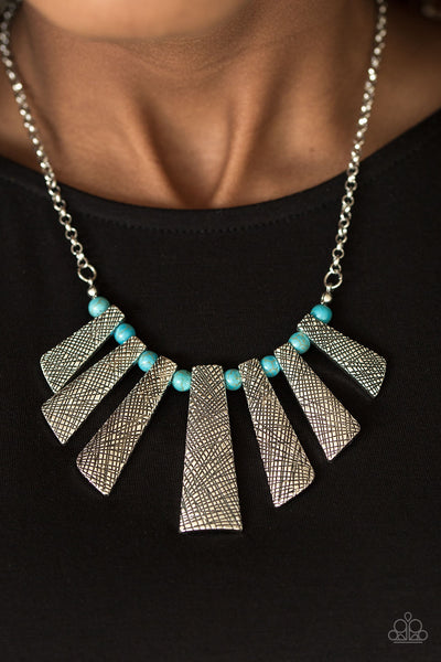 Sassy Stonehenge - Blue Stone Necklace - Paparazzi Accessories
