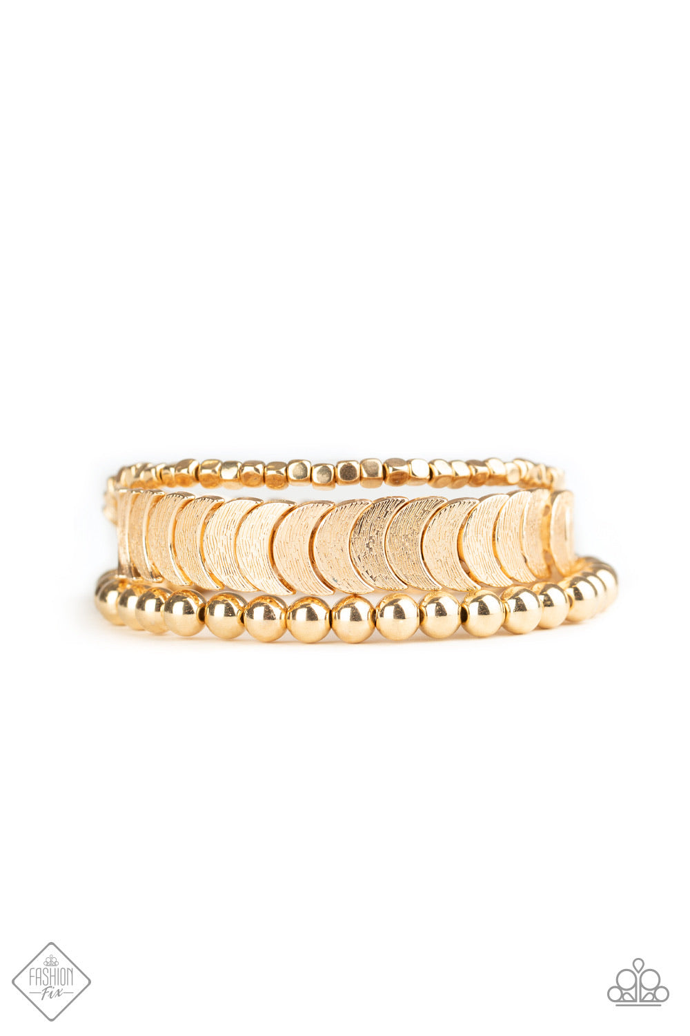 LAYER It On Me - Gold Bracelet - Paparazzi Accessories