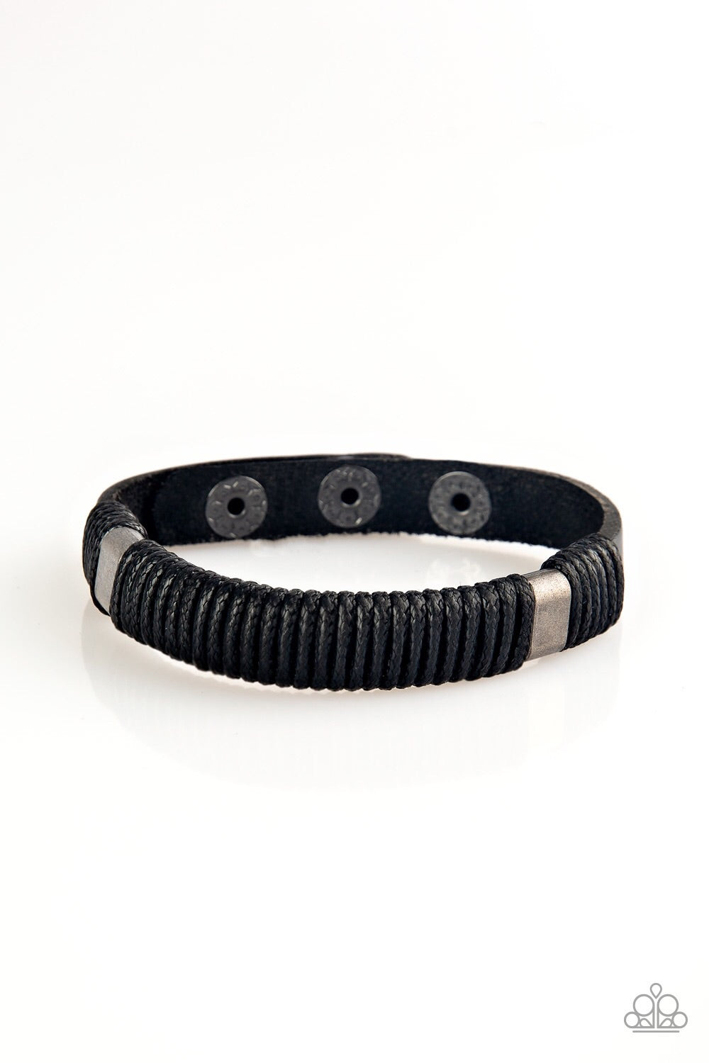 Paparazzi What Happens On The Road Men's Leather Band- Black