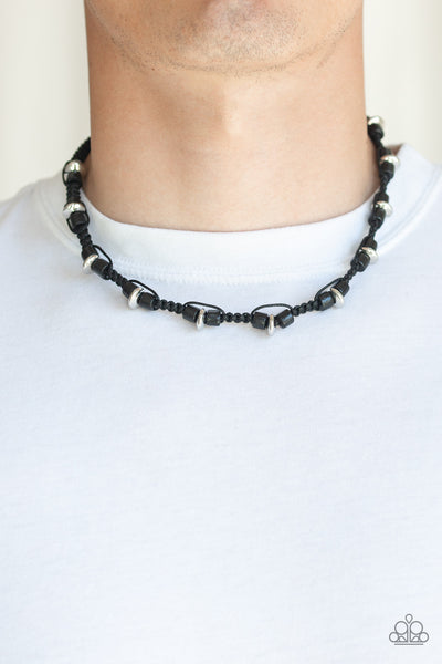 WOOD You Believe It? - Black Urban Necklace - Paparazzi Accessories