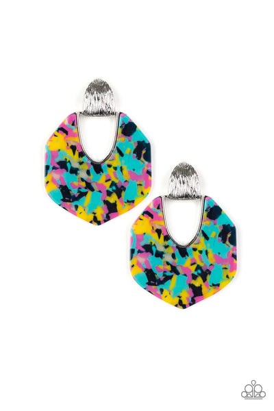 Paparazzi My Animal Spirit Acrylic Hoop Earrings - Multi
