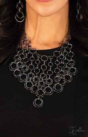 Paramount - Gunmetal Hoop Necklace