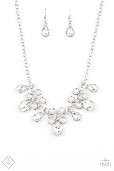 Paparazzi Demurely Debutante Necklace-White