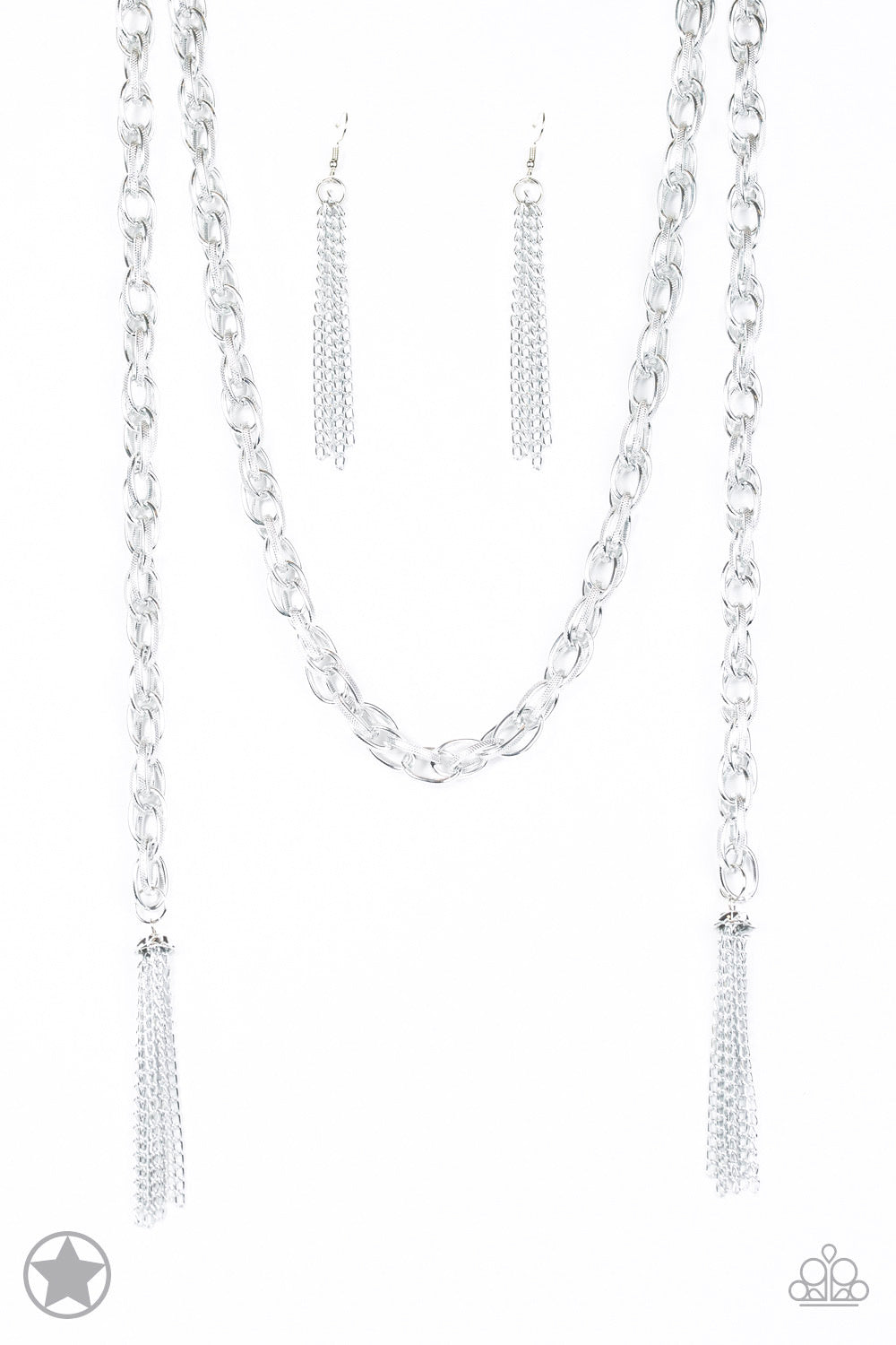 SCARFed for Attention - Silver Chain Necklace - Paparazzi Accessories