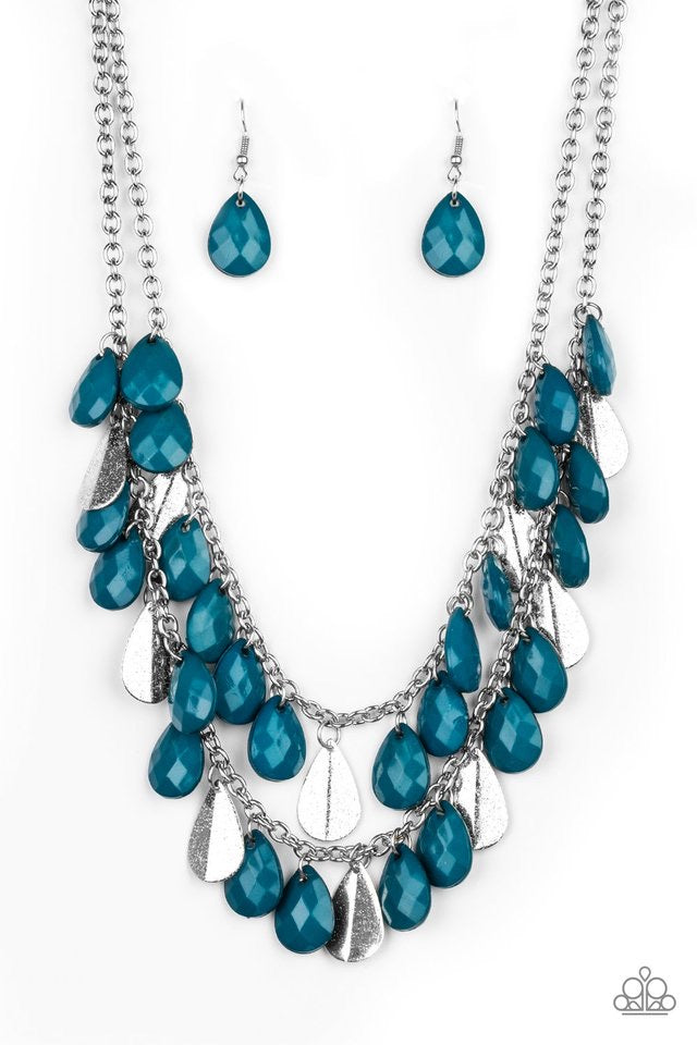 Life of the FIESTA - Blue Fringe Necklace - Paparazzi Accessories
