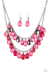 Storm Warning - Red Necklace - Paparazzi Accessories