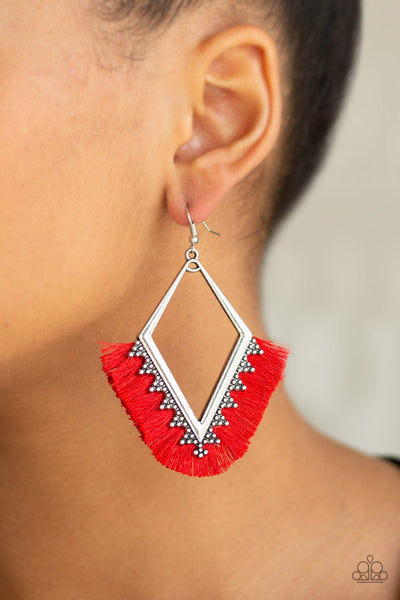 When In Peru Red Earrings - A Sophisticated Finish Boutique