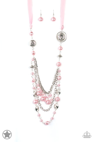 All The Trimmings - Pink Pearl Necklace - Paparazzi Accessories