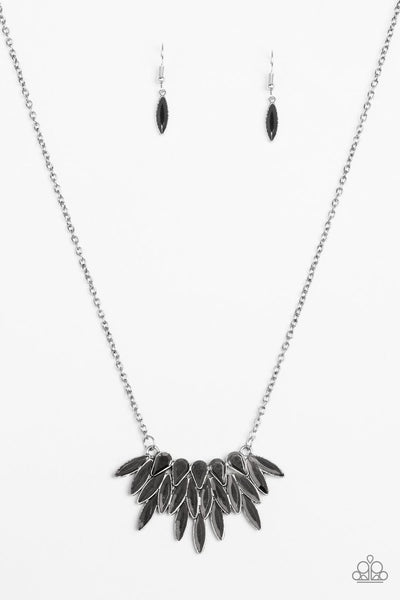 Crowning Moment- Silver and Hematite Necklace- Paparazzi Accessories