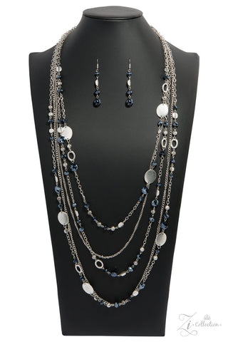 Harmonious - Silver and Blue Beaded Necklace - Paparazzi Accessories