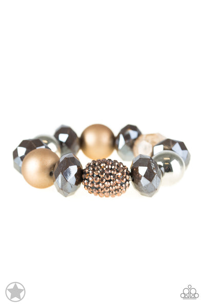 All Cozied Up - Brown Bracelet - Paparazzi Accessories