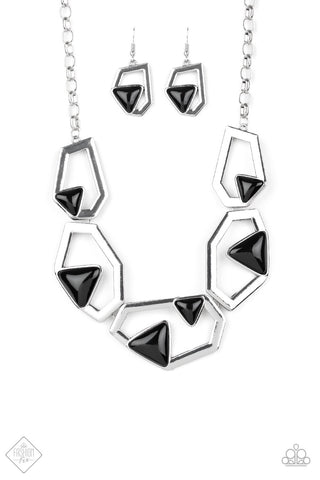 Paparazzi GEO-ing, GEO-ing, Gone Necklace - Silver