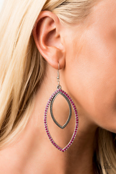 Paparazzi High Maintenance Hoop Earrings - Pink