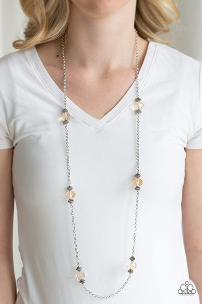 Season of Sparkle - Brown Bead Necklace - Paparazzi Accessories