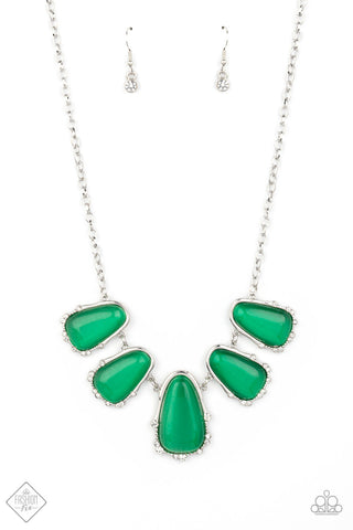 Newport Princess - Green Necklace - Paparazzi Accessories