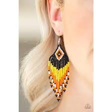 Wind Blown Wanderer-Yellow Black Orange - A Sophisticated Finish Boutique