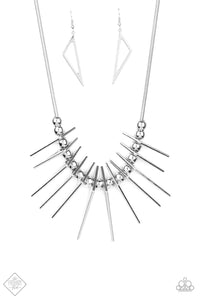 Fully Charged - Silver Necklace - Paparazzi Accessories