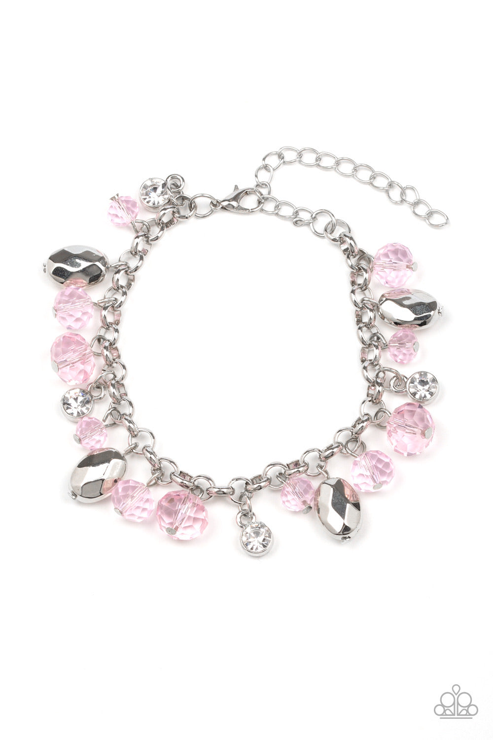 Dazing Dazzle - Pink Bracelet - Paparazzi Accessories