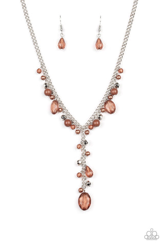 Crystal Couture - Brown Necklace - Paparazzi Accessories