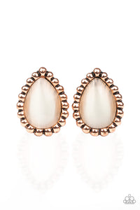 I Wanna GLOW - Copper Earrings - Paparazzi Accessories