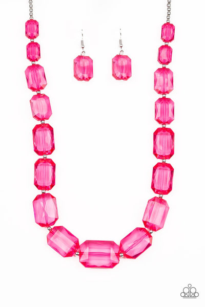 Paparazzi ICE Versa Necklace - Pink