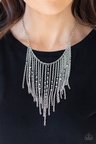 Paparazzi First Class Fringe Necklace- Silver