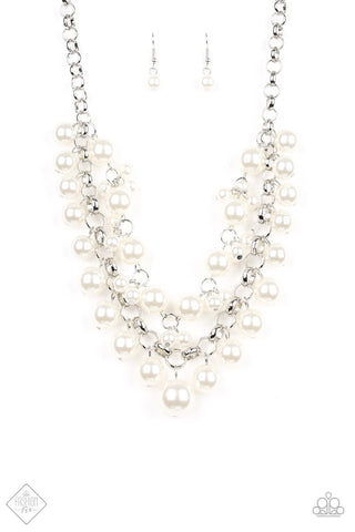 Paparazzi BALLROOM Service Necklace-White Pearls