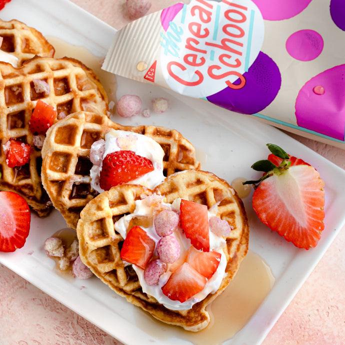 Berries & Cream Keto Cereal Waffles