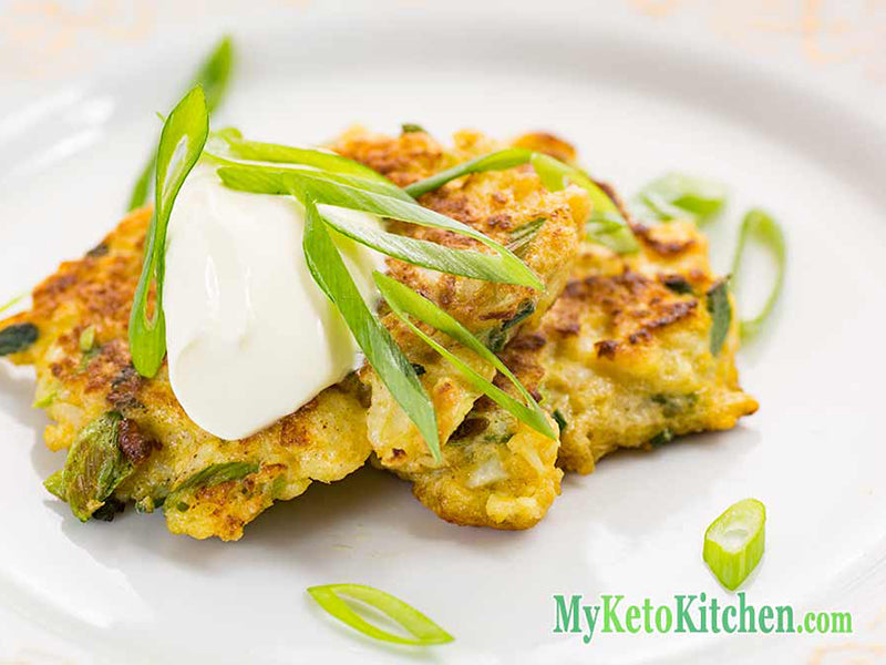 Atkins breakfast: cauliflower pancakes