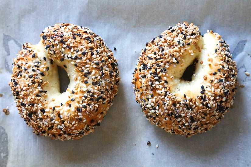 A low cholesterol breakfast of easy bagels