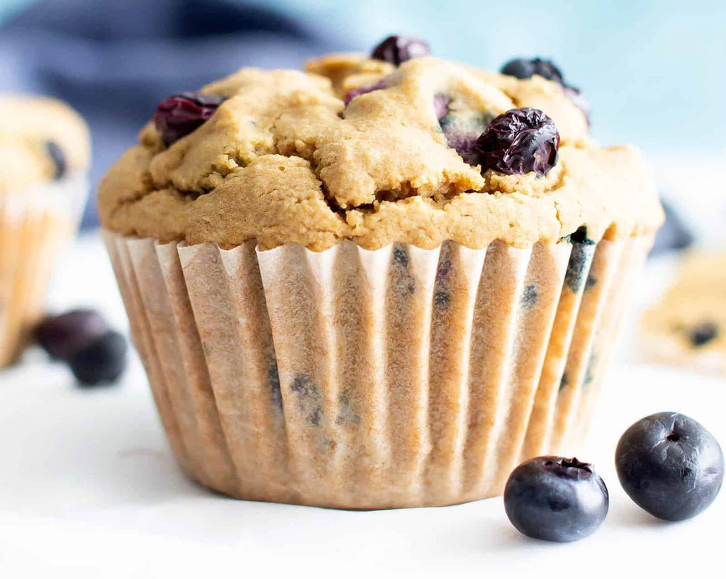 Nut-free snacks: Blueberry muffins