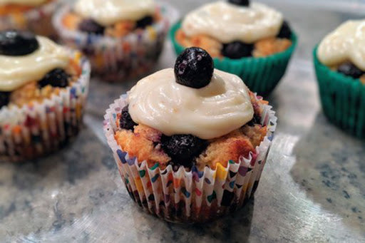 Low-sugar breakfast: blueberry  muffins