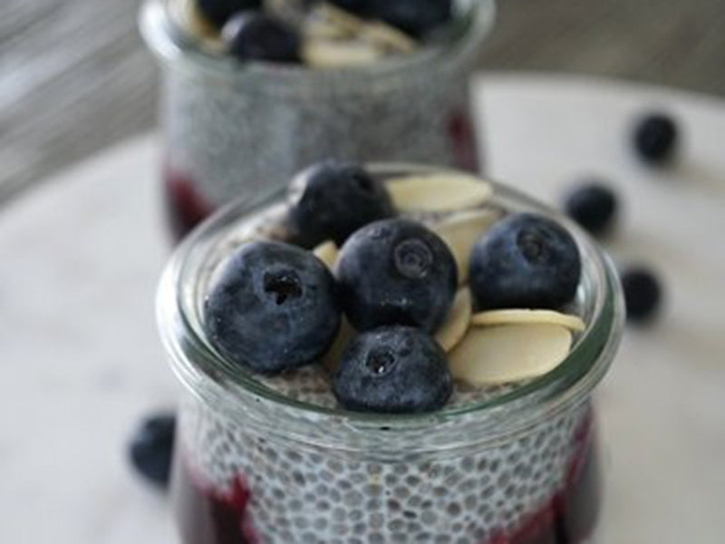 Keto breakfast no eggs - chia pudding