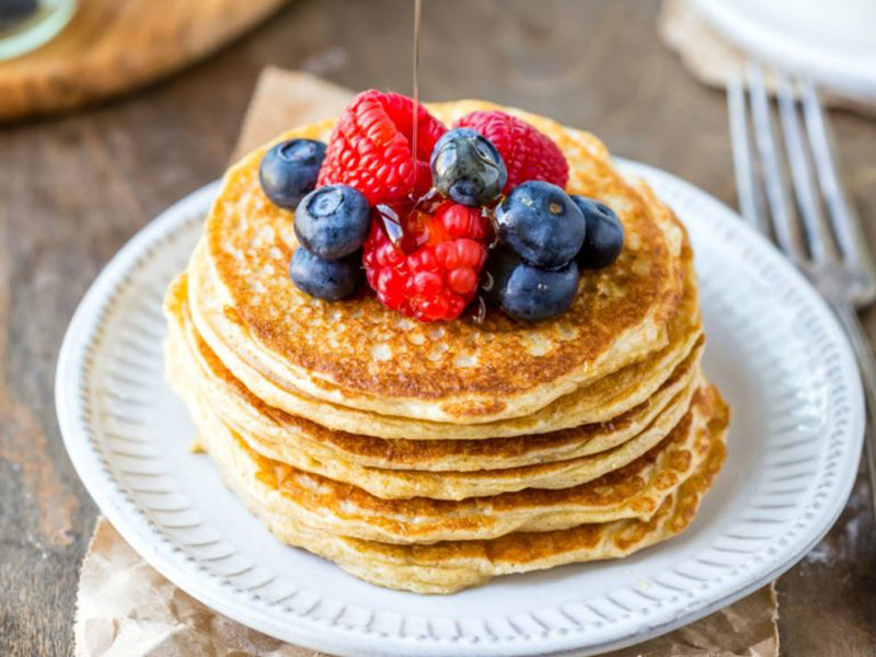 Atkins breakfast: cottage cheese pancakes
