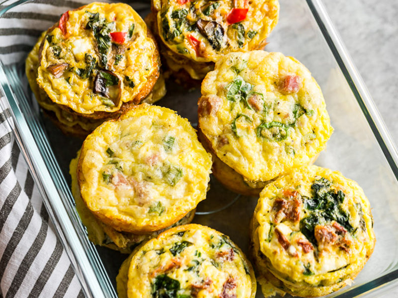 Diabetic breakfast egg muffins