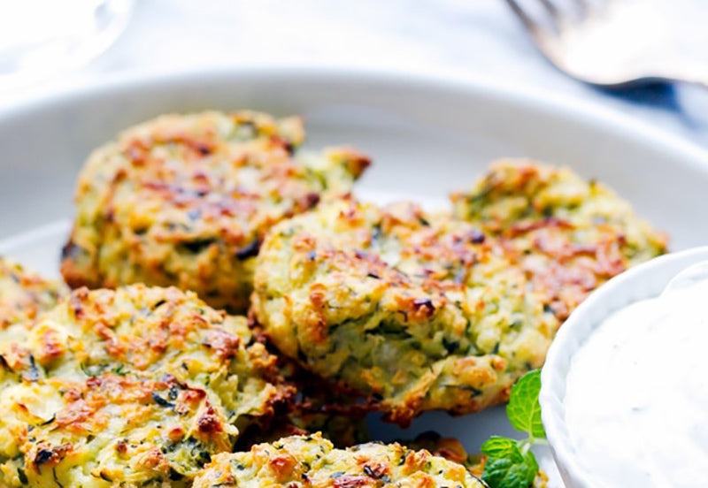 100-calorie meals: zucchini fritters