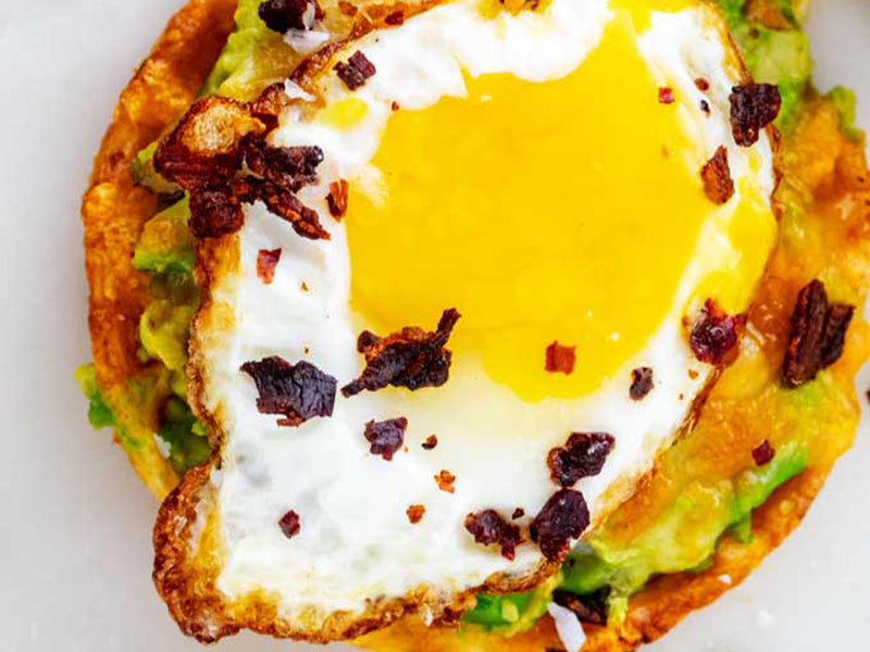 High-Protein Low-Carb Breakfast: Keto Avocado Toast