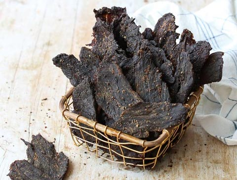 Sugar free snacks: Beef jerky