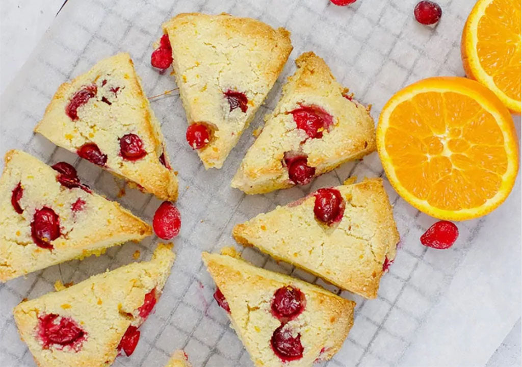 Breakfast for a Crowd: Keto Cranberry Scones