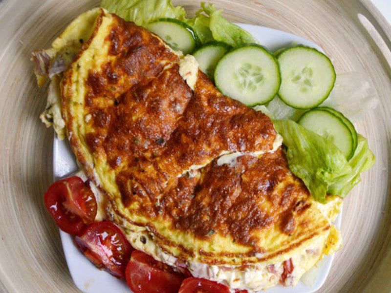 Diabetic breakfast omelet