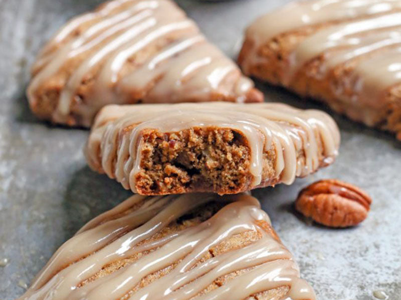 Grain free breakfast: Paleo Pecan Pie Scones