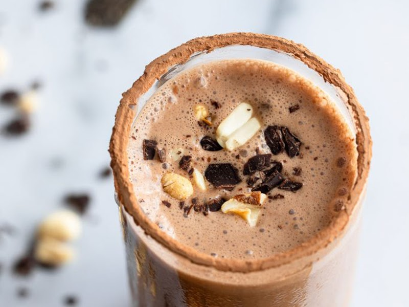 Peanut butter chocolate protein shake