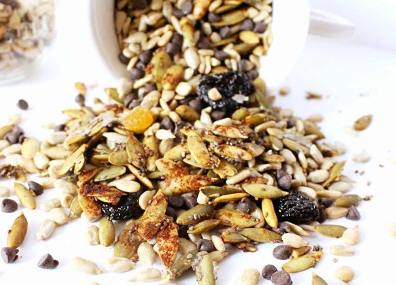 Nut-free snacks: Trail mix
