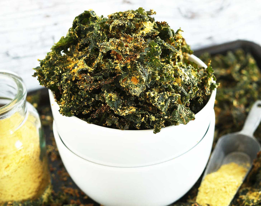 Sugar free snacks: Kale chips