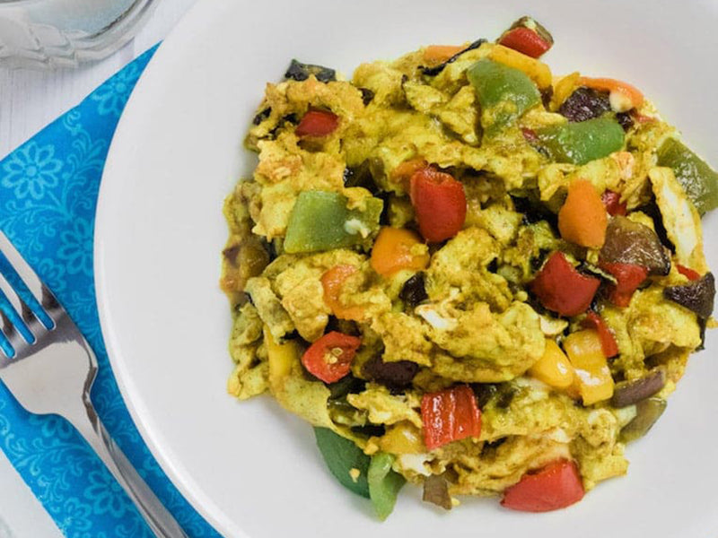 High-Protein Low-Carb Breakfast Veggie Scramble