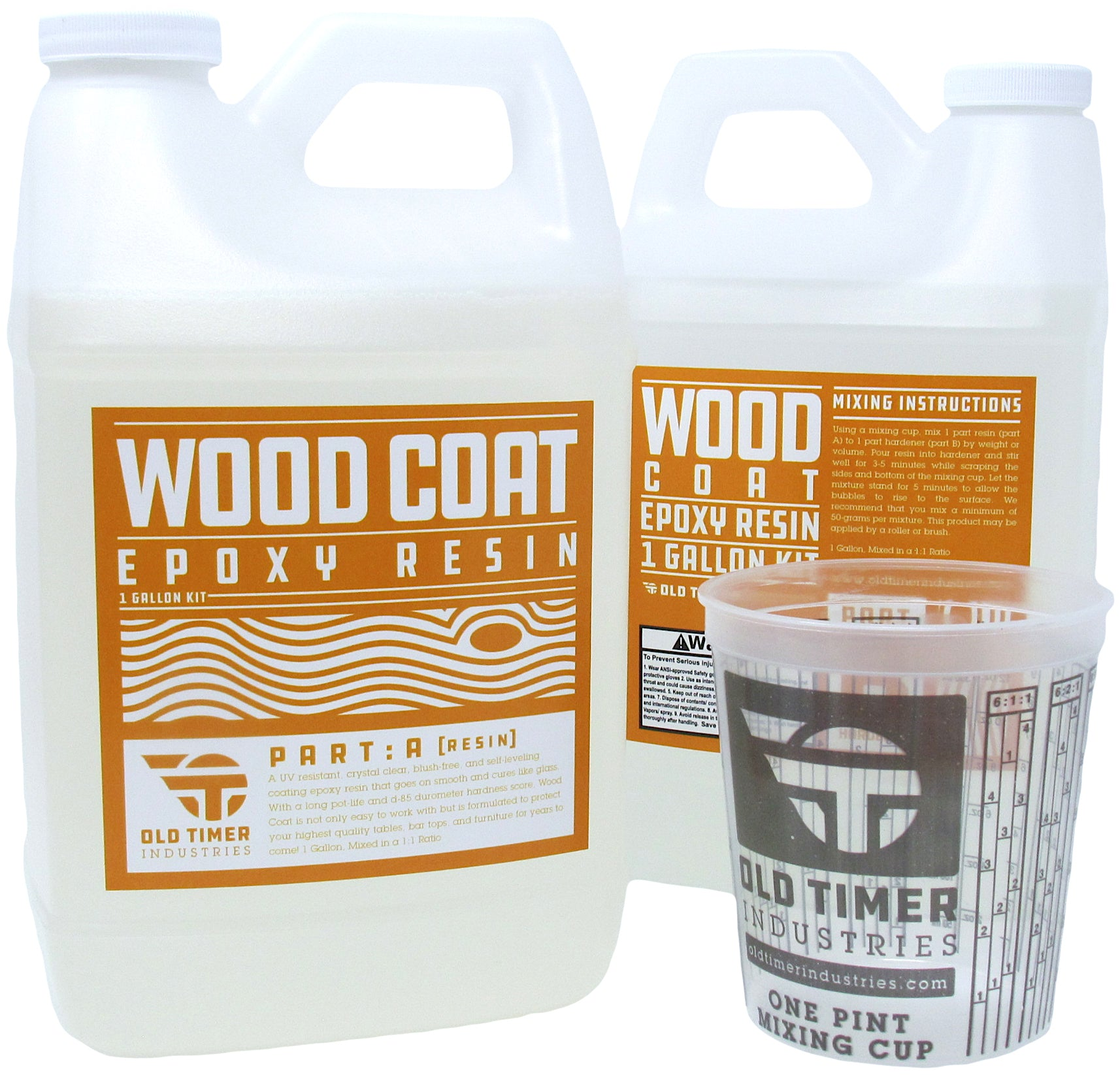 1 Gallon Kit, Wood Coat Clear Epoxy Resin for wood tabletop