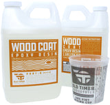 Wood Coat Clear Epoxy Resin for wood tabletop bar tops - 1 to 5 Gallon Kits