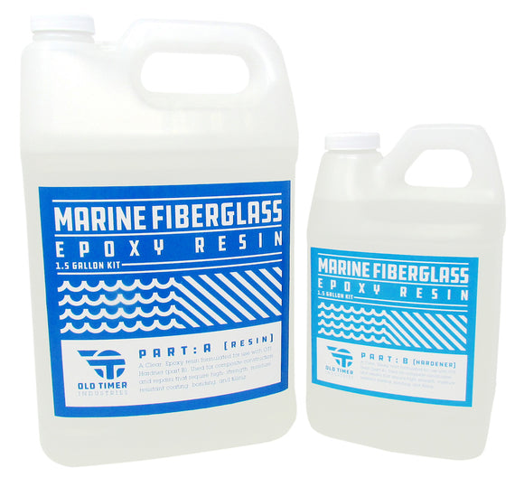 Fiberglass Epoxy Resin Marine Grade 1.5 gallon kit